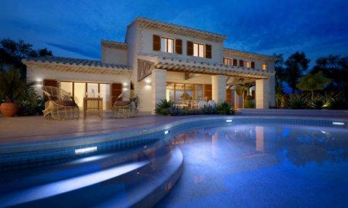 maison + piscine de nuit